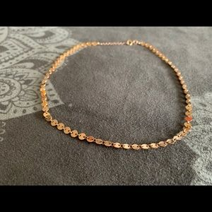 Jewelry - 14kt Rose Gold Disk Choker Necklace